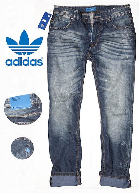 Джинсы мужские Adidas Originals blue label модель 003 New
