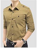 Рубашка в милитари стиле, цвет хаки