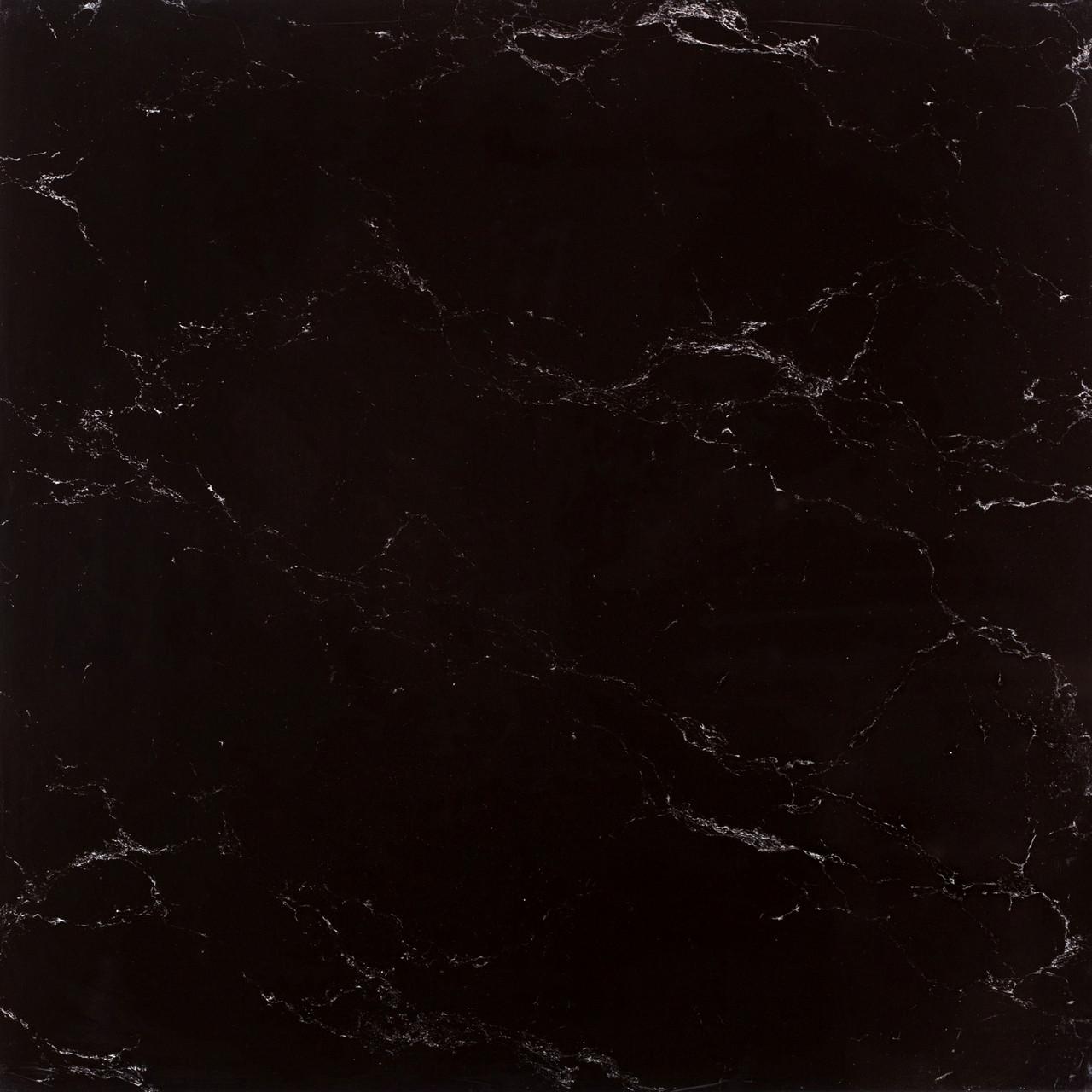 Керамогранит мрамор чёрный 60х60