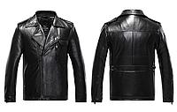 Кожаная мужская куртка  Justyle (PU кожа), Черный