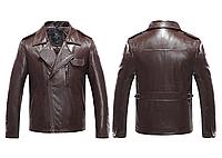 "Кожаная мужская куртка ""Классика"" Justyle (PU кожа), Коричневый"