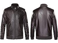 Кожаная мужская куртка Justyle (PU кожа), Коричневый, фото 1