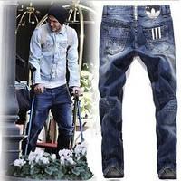 Мужские джинсы в стиле Diesel от Adidas, 3 stripes