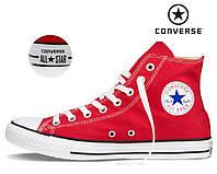 Кеды Converse All Star (Конверс), наличие, размеры, цвет красно-белый