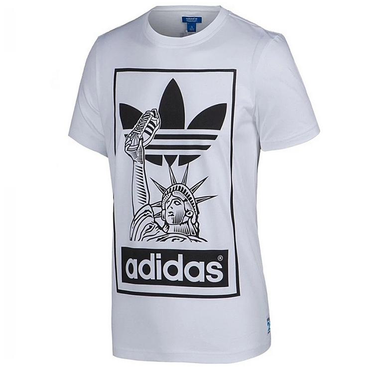 """Футболка Adidas Originals """"NYC"""", белый"""