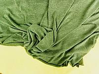 Зеленый насыщенный . Ткань трикотажная ангора. Корея, объемная фактура., фото 1