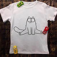 Чоловіча футболка з принтом - Кіт Саймон на шпагаті