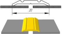 Алюминиевый порожек АП-002