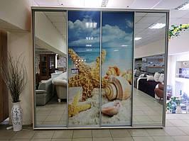 Большой Шкаф -Купе зеркало с фотопечатью!