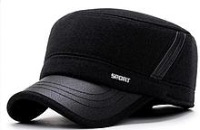Модель №330 Шерстяная кепка немка утепленная.