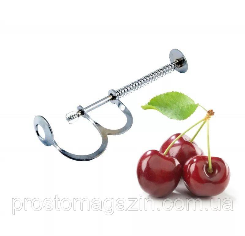 Инструмент для удаления косточек из вишни, черешен. Ручной выдавливатель металлический, вишнечистка