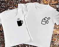 Парные футболки с принтом - Чашка с чайным пакетиком