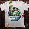 Чоловіча футболка з принтом - Groot & Yoda 2