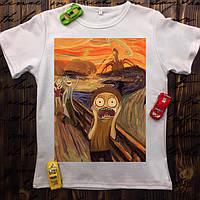 """Мужская футболка с принтом - Рик и Морти """"Крик"""""""