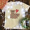 Чоловіча футболка з принтом - Пара ведмедиків