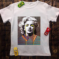 Мужская футболка с принтом - Мерлин Монро