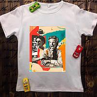 Мужская футболка с принтом - Коллаж чб