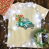 Чоловіча футболка з принтом - Машина з подарунками
