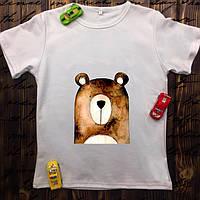 Мужская футболка с принтом - Мишка