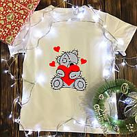 Мужская футболка с принтом - Плюшевый мишка