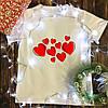 Чоловіча футболка з принтом - Сердечка