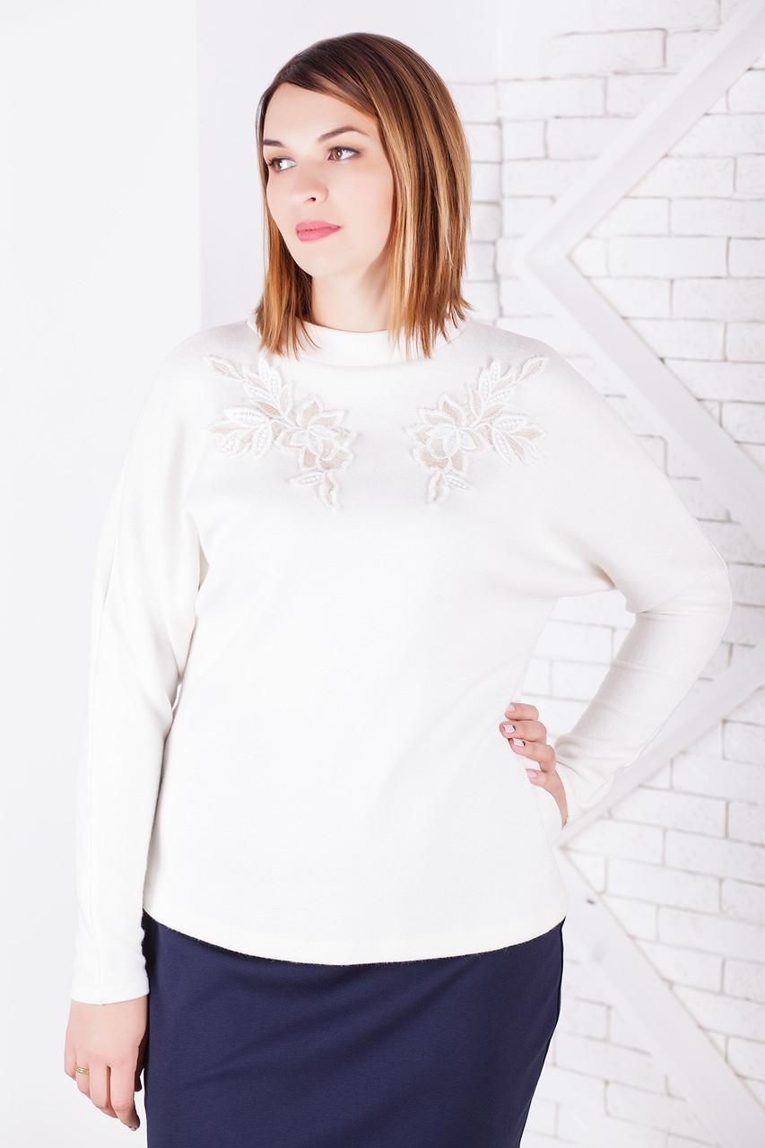 Женский пуловер больших размеров из мягкой ангоры