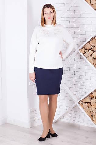 Женский пуловер больших размеров из мягкой ангоры, фото 2