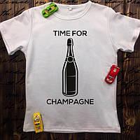 Чоловіча футболка з принтом -Time for champagne