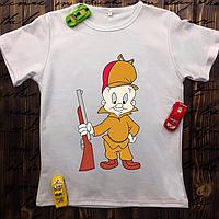 Мужская футболка с принтом - Охотник