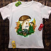 Мужская футболка с принтом - Блин где грибы?
