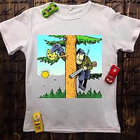 Мужская футболка с принтом - Сам себе охотник
