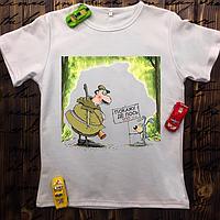 Мужская футболка с принтом - Покажу где Лось, 100 у.е