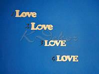 Слово LOVE №4 заготовка для декора