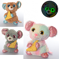 Мишка -М'яка іграшка, звук, світло, реагує на звук, рухома