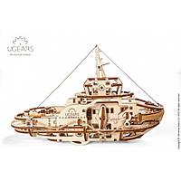 Буксир UGears (169 деталей) - механический 3д пазл, фото 1