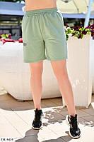 Прогулянкові шорти жіночі літні легкі спортивні з двухнитки великих розмірів р-ри 48-54 арт. 2109