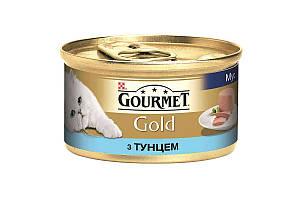 Влажный корм Purina Gourmet Gold для кошек, мусс, с тунцом 85 г * 24 шт