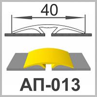 Алюминиевый порожек гладкий АП-013
