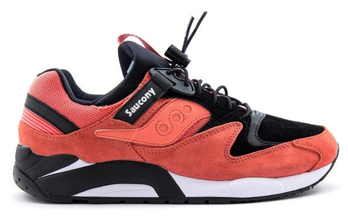 Мужские кроссовки Saucony Grid 9000 оранжевого цвета