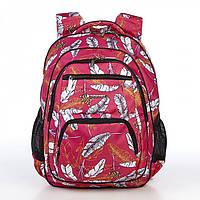 Рюкзак школьный с ортопедический спинкой для девочки с ярким рисунком  Dolly 546 39*30*22 см, фото 1