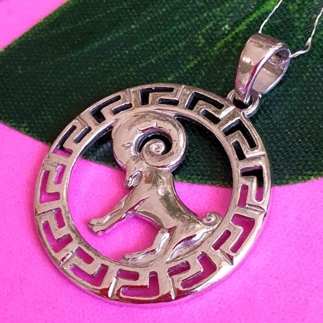 Срібний кулон знак зодіаку Овен - Підвіска Овен срібло - Чоловічий кулон Овен срібний