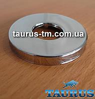 """Круглый объёмный декоративный фланец из нержавеющей стали, размер D54мм, под внутренний размер 1/2"""""""
