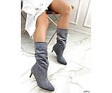 Демісезонні чоботи невеликому каблуці, фото 4