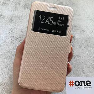 Чехол книга для Meizu M6 Note с подставкой c магнитом книжка на телефон мейзу м6 нот золотая MWT
