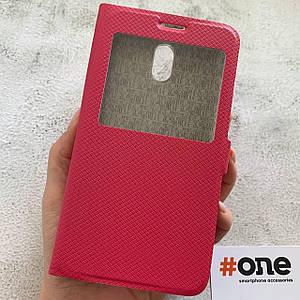 Чехол книга для Meizu M6 Note с подставкой c магнитом книжка на телефон мейзу м6 нот розовая MWT