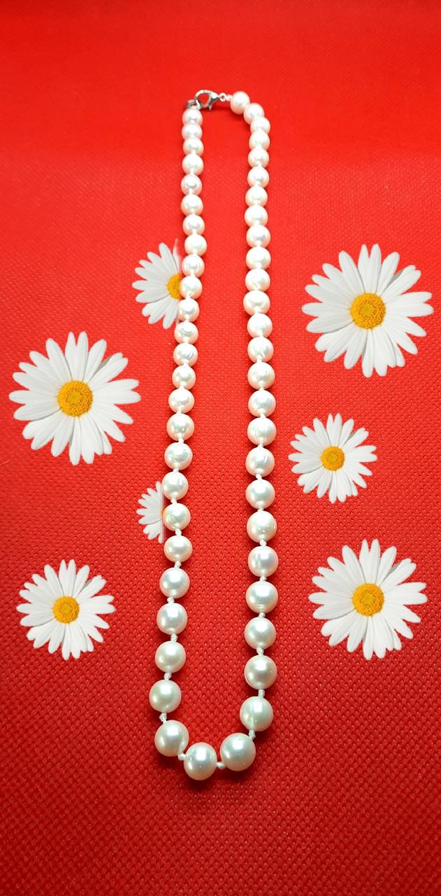 Намисто прекрасні із натурального білого перлів, кольє з перлів, намисто з перлин, перлове намисто, Daimi.