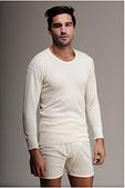 Термобелье мужское шерстяное (лонгслив) белое 75% шерсти