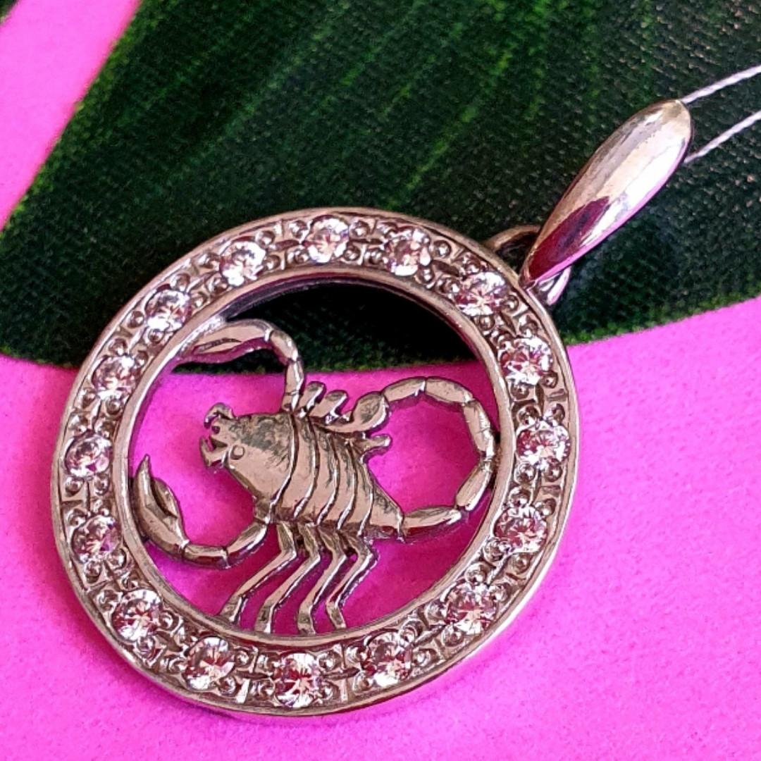 Серебряный кулон знак зодиака Скорпион - Подвеска Скорпион серебро - Кулон Скорпион серебряный