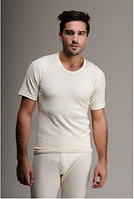 Термобелье мужское шерстяное (футболка) белое 75% шерсти, фото 1