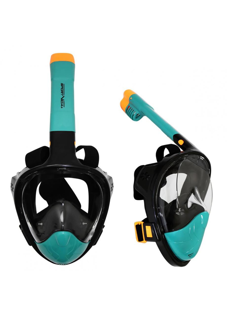 Оригінальна підводна повнолицьова маска для плавання снорклінга пірнання дитяча жіноча SportVida (SV-DN0020)